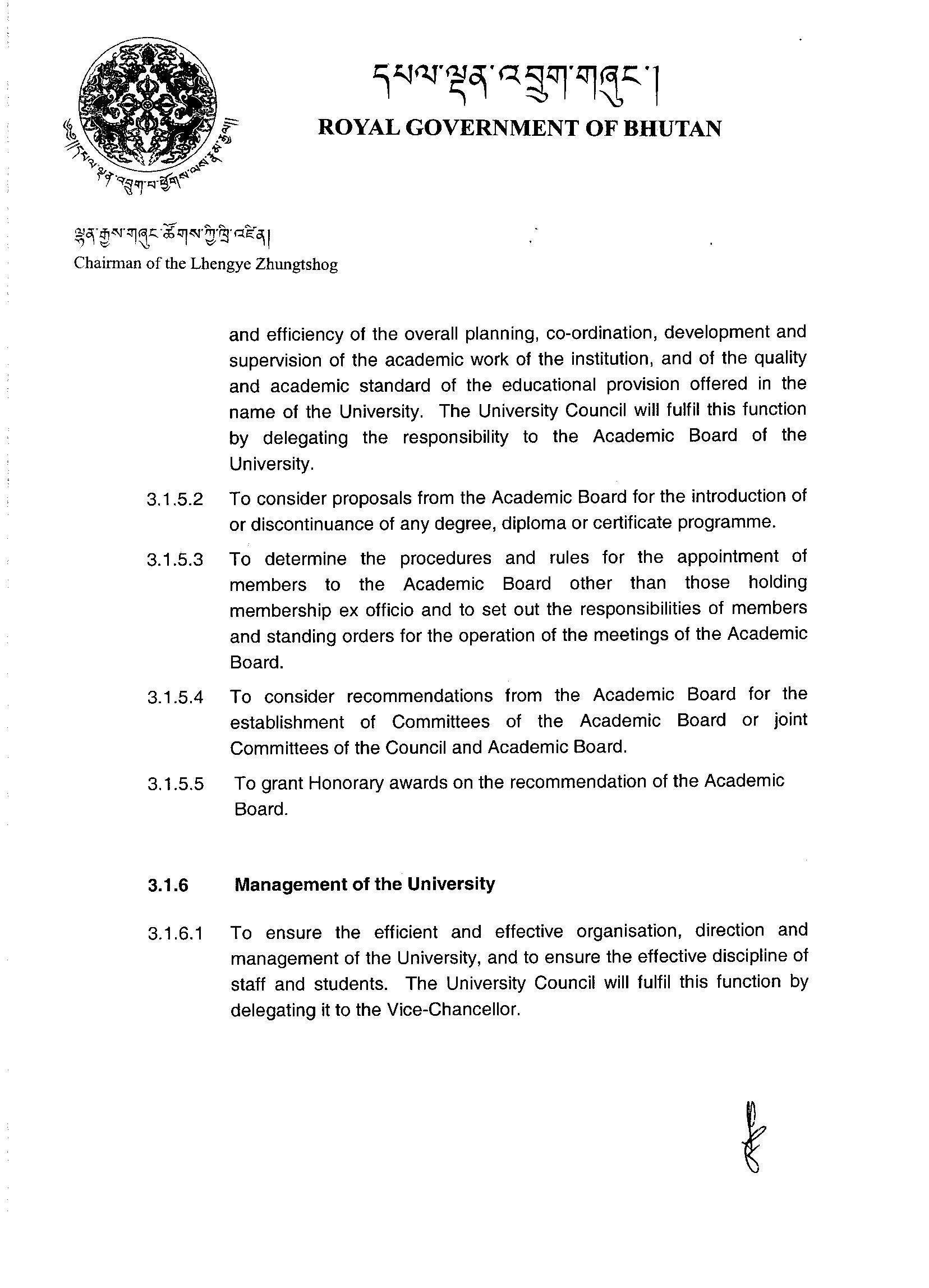 academic affairs department
